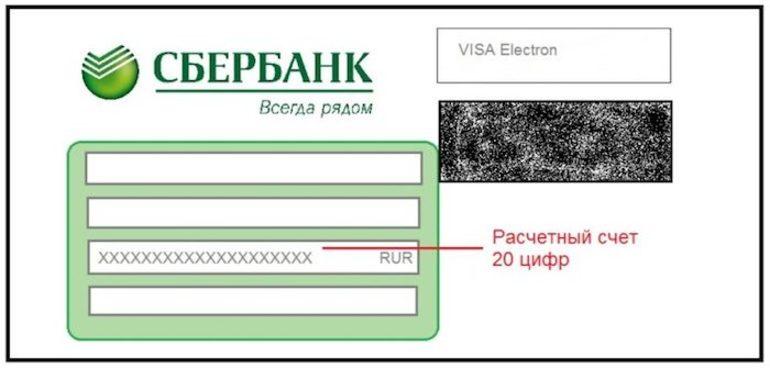 Расчётный счёт карты Сбербанка где посмотреть