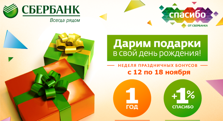 Бонусы Спасибо от Сбербанка