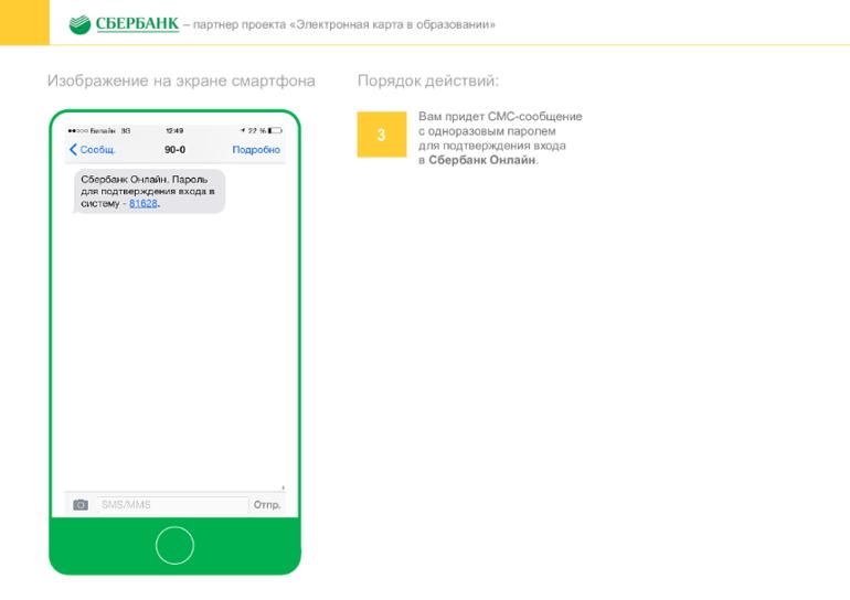 СМС сообщения для входа в сбербанк онлайн