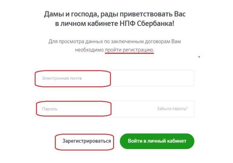 Пенсионный фонд сбербанка регистрация